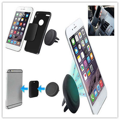 Hot Portable Car Magnetic Air Vent Mount Holder Bracket Stand for Cell Phone DE