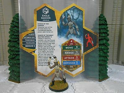 Heroscape Custom Eagle Dancer Double Sided Card & Figure w/ Sleeve Aquilla