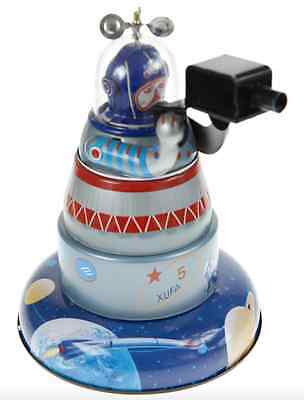 Tin Toy Space Explorer Wind-Up  Collectable Sparks With Mystery Action