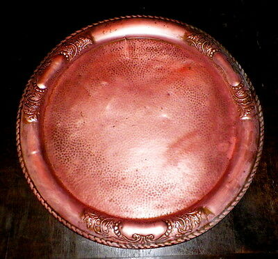 Vintage 1900'S Large  English Arts & Crafts Copper Charger