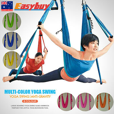 900KG Flying Yoga Pilates Aerial Hammock Swing Trapeze Anti-Gravity Fitness Tool