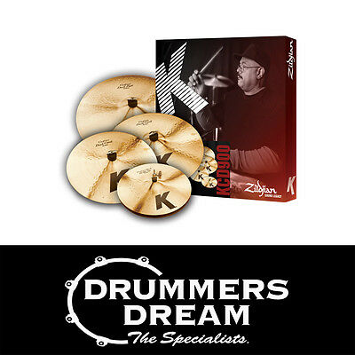 "Brand New Zildjian K Custom Dark Cymbal Pack Set 14"" HH, 16"",18 "", 20"""