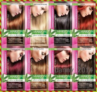 Marion Hair Color Shampoo in Sachet - Lasting 4-8 Washes no ammonia Fast Dispach