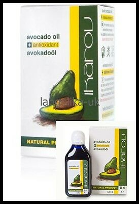 Ikarov Avocado Massage Oil 100% Natural Product , 55 Ml Essential Face Body