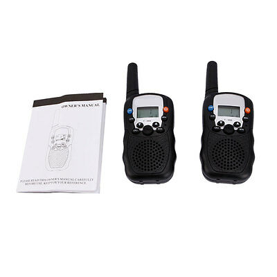 2 x High-quality T-388 Walkie Talkie Atomatic Battery Save LCD Walkie Talkie