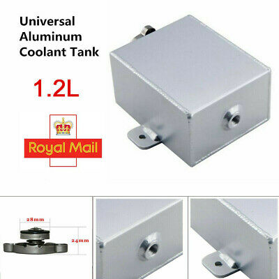 Polished Aluminum Coolant Expansion Tank Radiator Overflow Recovery Tank 1.2L