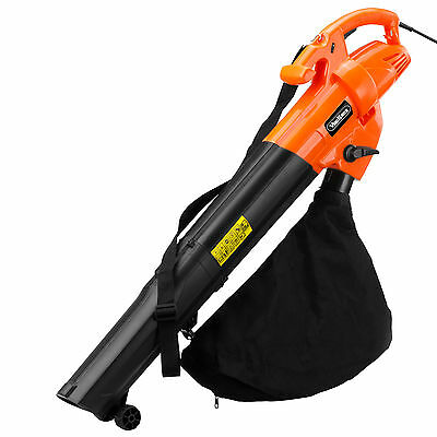 VonHaus 2800W Electric Garden Leaf Vacuum / Blower with 10m Cable