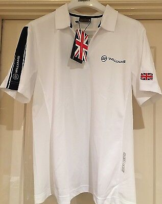 NEW Williams F1 Team Polo Shirt Official Licensee Formula1 Motor Racing Size 52