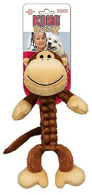 KONG BRAIDZ DOG TOY (VARIOUS DESIGNS & SIZES) puppy toy fetch fun rope/tug toy