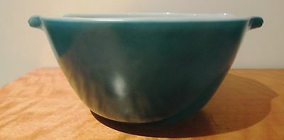 Fire King Anchor Hocking Teal Mixing Bowl