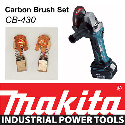 Makita 18V LXT Angle Grinder BGA452 BGA452Z Genuine CARBON BRUSH SET CB-430