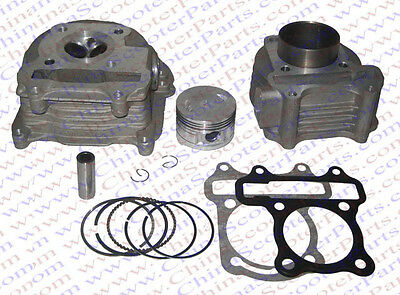 GY6 100CC 50MM Big Bore kit Head Cylinder Piston Ring Gasket Kit GY6 Jonway Baot