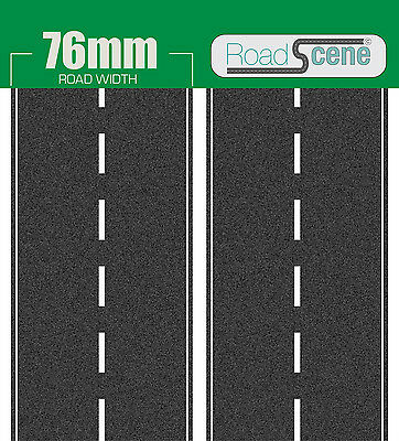 2 metres 76mm Road to suit OO Gauge (Hornby Skaledale etc.) Self Adhesive Vinyl