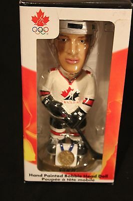 Joe Sakic Team Canada 2002 Gold Medal Bobblehead With Rare Gold Base