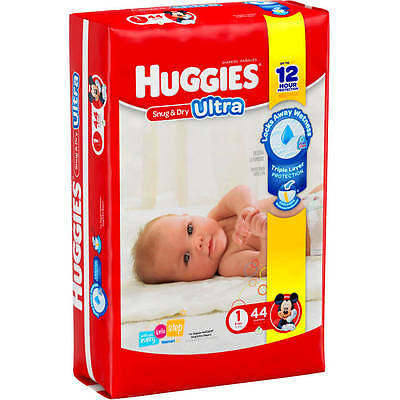HUGGIES Snug Dry ULTRA Diapers, Jumbo Pack, (Choose Your Size)