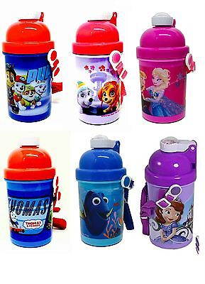 Disney Character Kids Childrens Water Juice Pop Up Thermos Bottle Flask 500ML