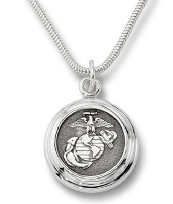 Sterling Silver US Marine Corp Pendant