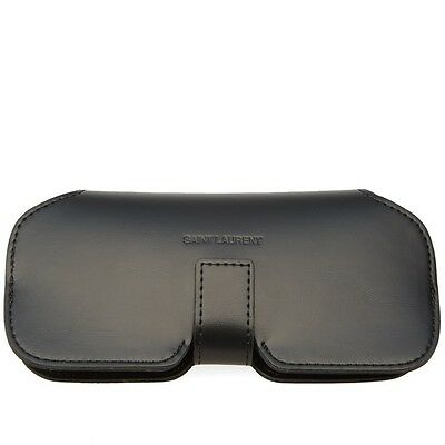 YVES SAINT LAURENT Genuine Leather Sunglass/Eyeglass Case W/Cleaning Cloth- NEW