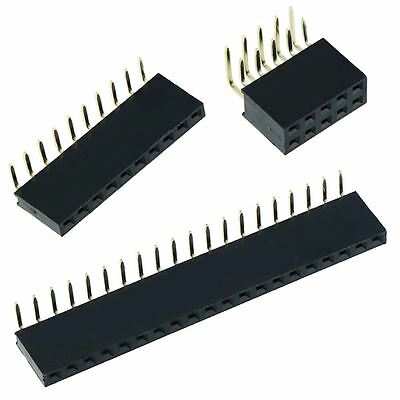 """2.54mm 0.1"""" PCB Female Header Socket Single or Double Row Connector"""