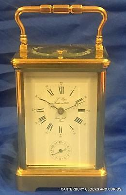 L'epee Vintage French Grande Corniche Alarm Striking Repeater Carriage Clock