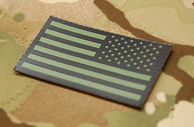Infrared Reverse US Flag Patch IR US Army Navy USN USAF SEAL Green VELCRO® Brand
