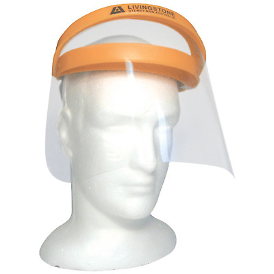 Face Shield Lift Strong Front Polycavonate 230 x 229mm Orange