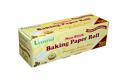 Universal Baking Paper, Non-Stick with Metal Cutter, Water Proof, 30cm x 120m