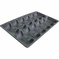 18 x Oyster Tray, 1 Dozen, Black, Compostable/Cornstarch, Light Weight, Loose