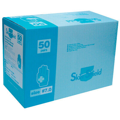 Skin Shield Sterile Surgical Gloves Size 7.0 50 Pairs per Box