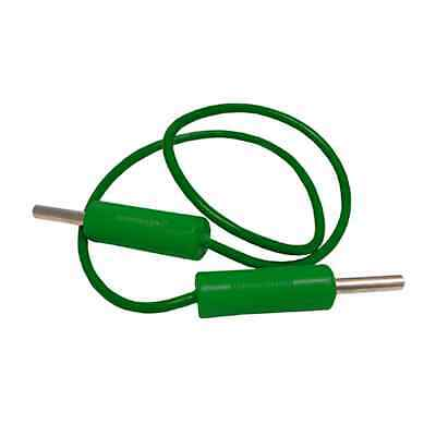 2 x Electrical Circuit Leads 50 cm Green with Two Banana Plug