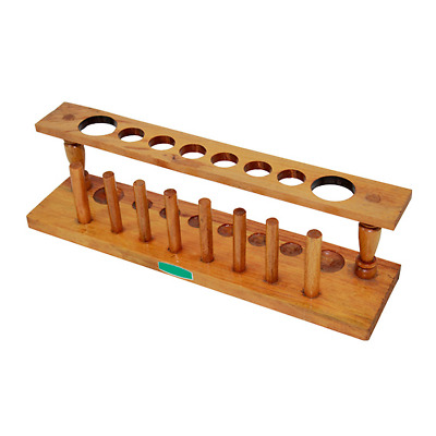 Test Tube Rack 8 Hole 28Mm With Peg 6X22Mm 2 X 32Mm Wooden
