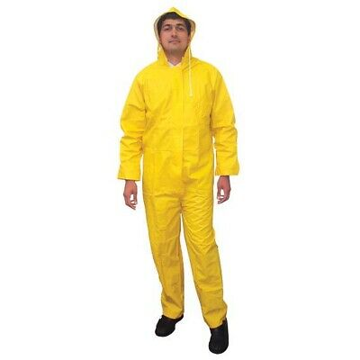 Rain Coverall Extra Large Hooded Head to Feet Yellow