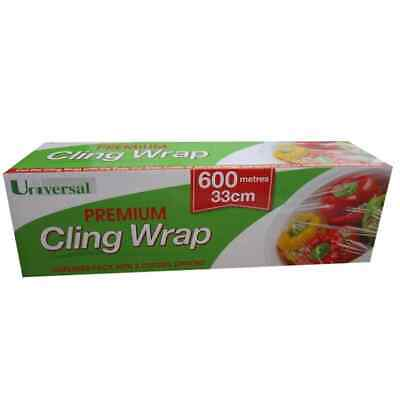 Universal Cling Wrap In Dispenser Pack, 33cm x 600m, 10 Microns