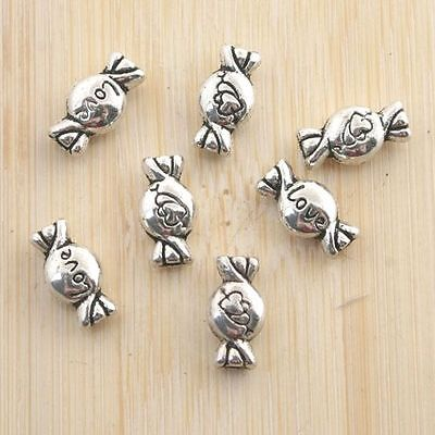 8pcs dark silver color heart shaped mouse head design spacer bead  EF2836