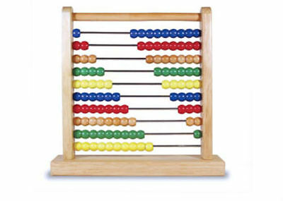 Melissa & Doug Kids Classic Toy Solid 100 Wooden Beads Wooden Abacus MND493