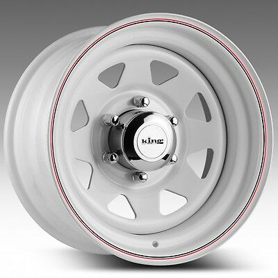 KING WHITE TERRA 13x5.5 - 13 INCH 5/114.3 0P 4WD TRAILERS -