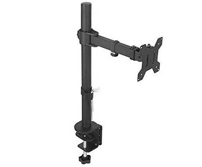 Single Monitor Mount with Fully Adjustable Ability Screen up to 27""