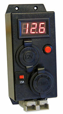 KICKASS Control Box With Volt Meter With Engel Cigarette Anderson Outlets