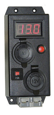 KICKASS Control Box With Volt Meter With Merit Cigarette Anderson Outlets