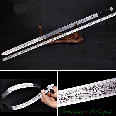 New Tai-chi Soft sword Hand Forged Spring steel Springsteels blade #3298