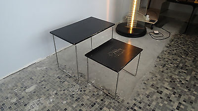 Série de 2 Tables gigogne design 70'S - vintage nest of tables