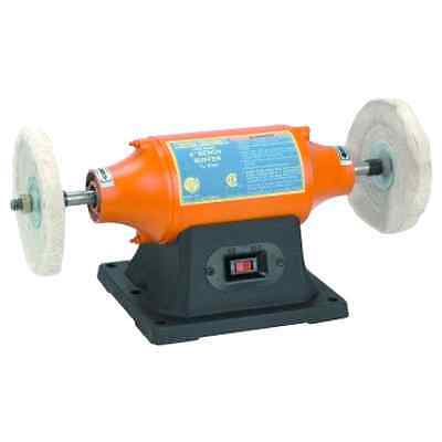 6 inch Benchtop Buffer Heavy Duty 1/2 HP; Includes Two Buffing Wheels Brand New