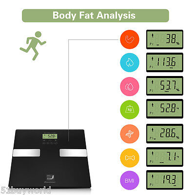180KG 400lb Digital Body Fat BMI Analyser Scales Weighing Scale for Weight Loss