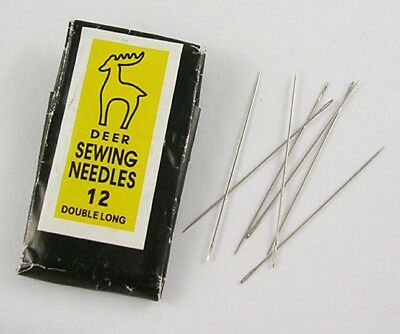 25 Pcs x Steel Hand Sewing Beading Needles 40mm long(1 Packet x 25 Pcs)(E257-12)