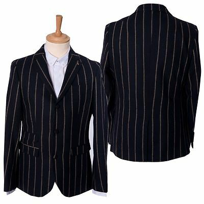 "Gabicci Mens Navy Pinstriped Vintage Jacket Tailored Blazer Coat Size 36"" – 44"""