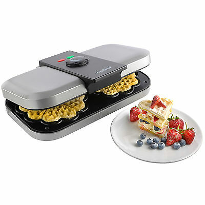 VonShef Electric Double Belgian Waffle Maker Iron Non Stick Machine
