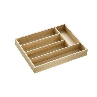 Cutlery Tray, 5 Compartment, Birch Wood