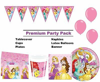 Disney Princess | Ariel Belle 8-48 Guest Premium Party Pack | Bunting | Balloons