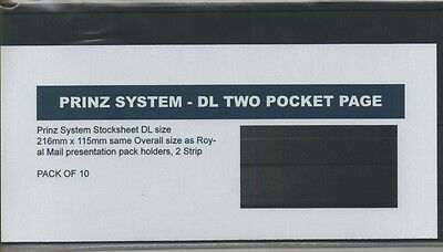 10 x Prinz large DL size stockcards 216 x 115mm - 2 strip same size as RM cards