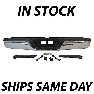 New Chrome Steel Rear Step Bumper Complete Assembly For 2000-2006 Toyota Tundra